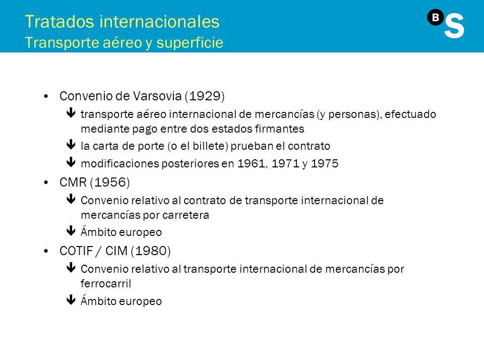 Tratados internacionales Transporte aéreo y superficie