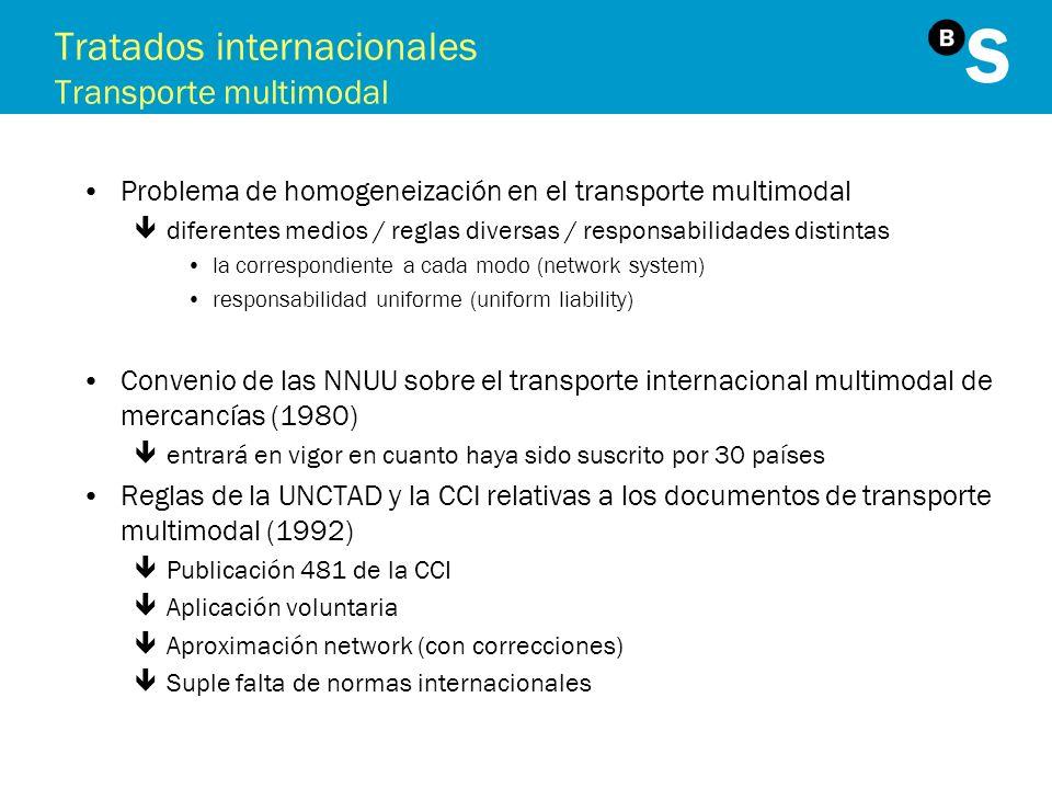 Tratados internacionales Transporte multimodal
