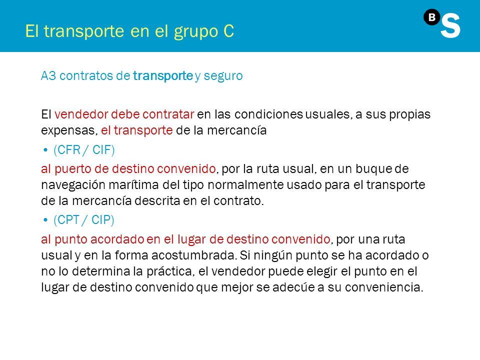 El transporte en el grupo C