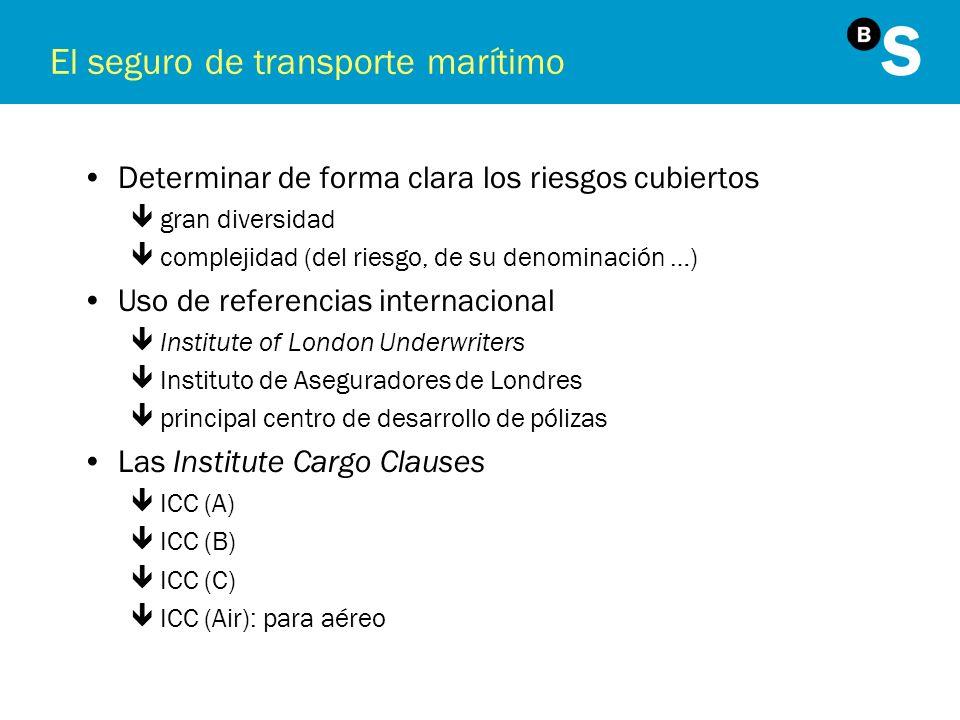 El seguro de transporte marítimo