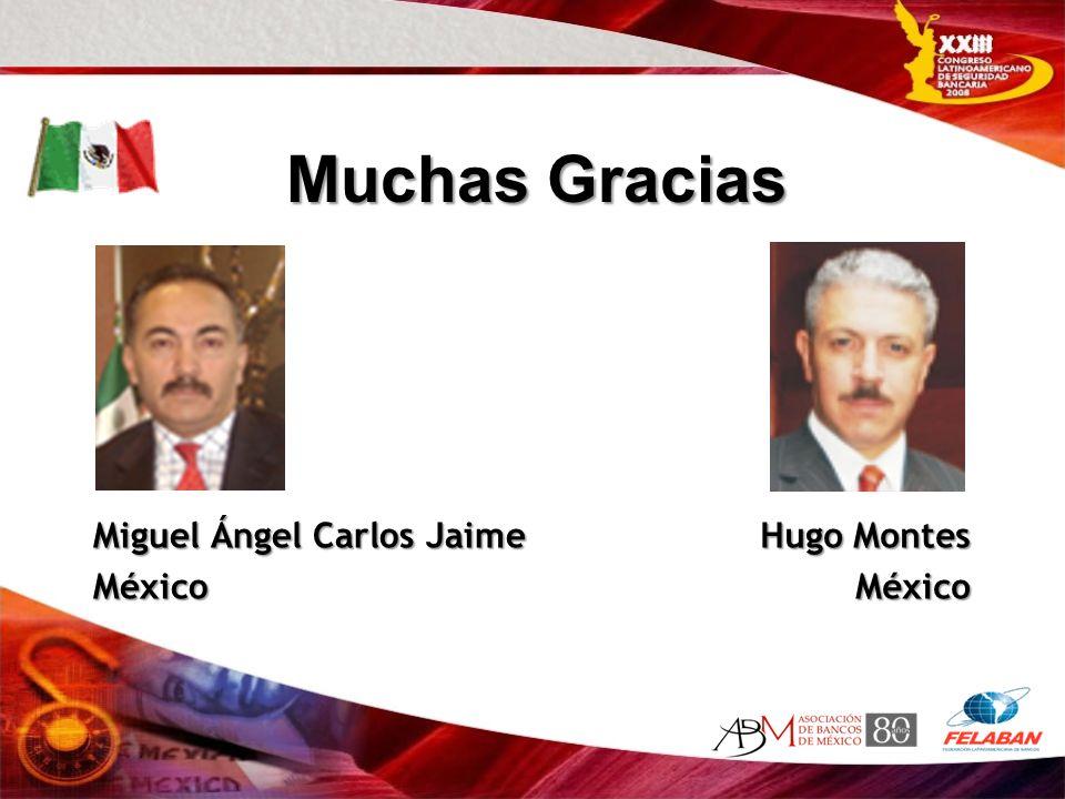 Muchas Gracias Miguel Ángel Carlos Jaime México Hugo Montes México