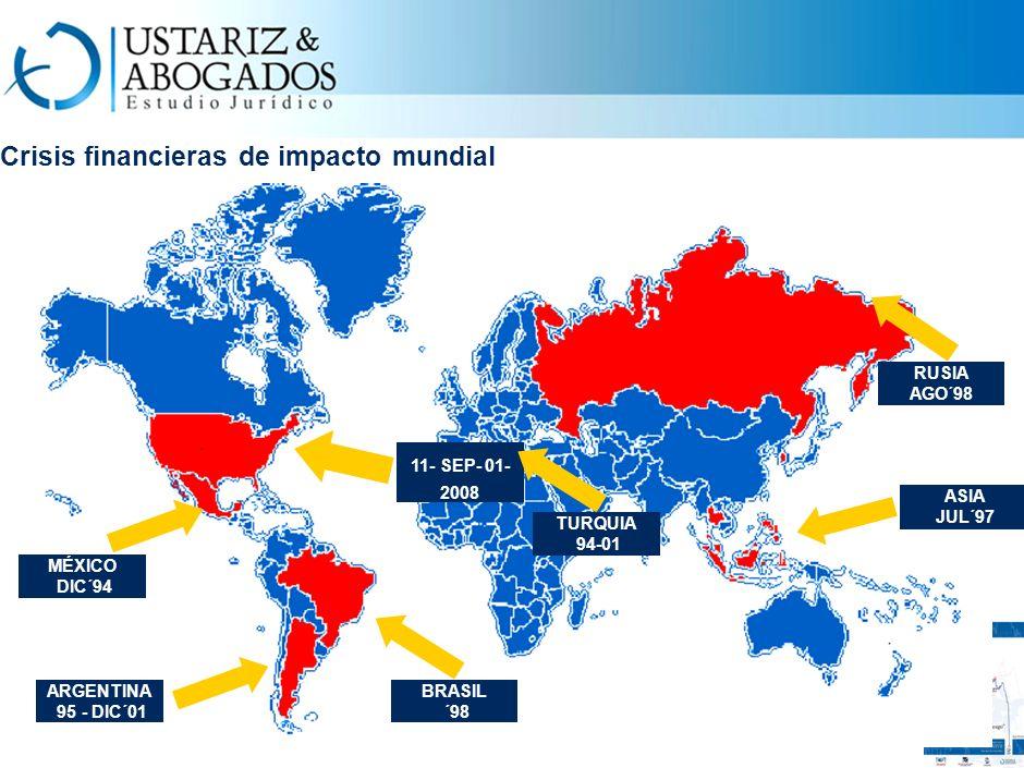 Crisis financieras de impacto mundial