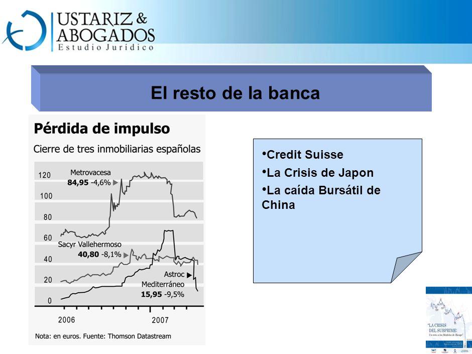 El resto de la banca Credit Suisse La Crisis de Japon