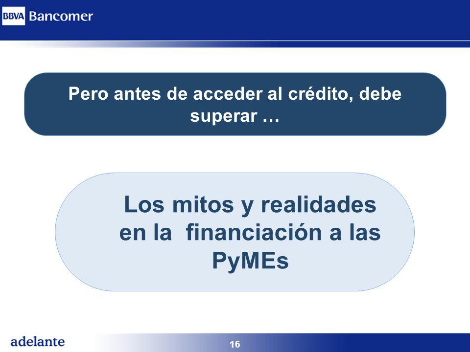 Los mitos y realidades en la financiación a las PyMEs