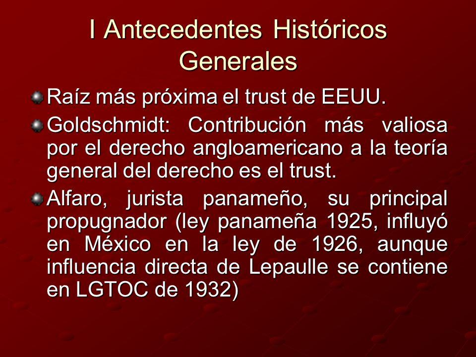 I Antecedentes Históricos Generales
