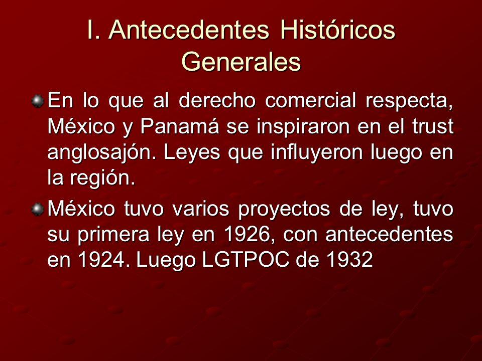 I. Antecedentes Históricos Generales