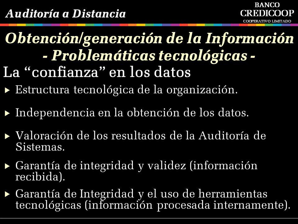 Obtención/generación de la Información - Problemáticas tecnológicas -
