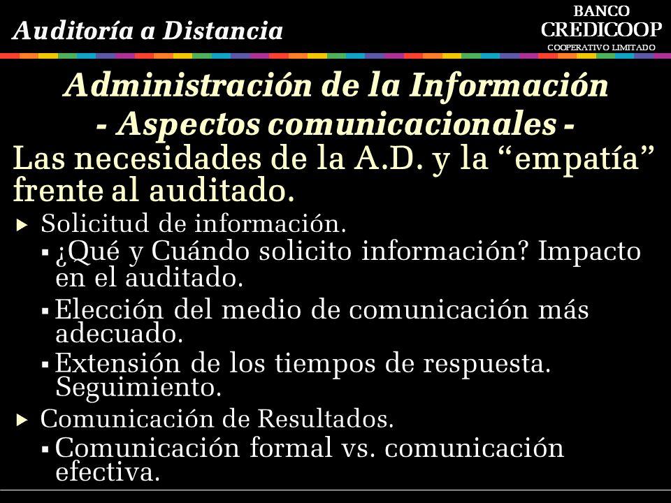 Administración de la Información - Aspectos comunicacionales -