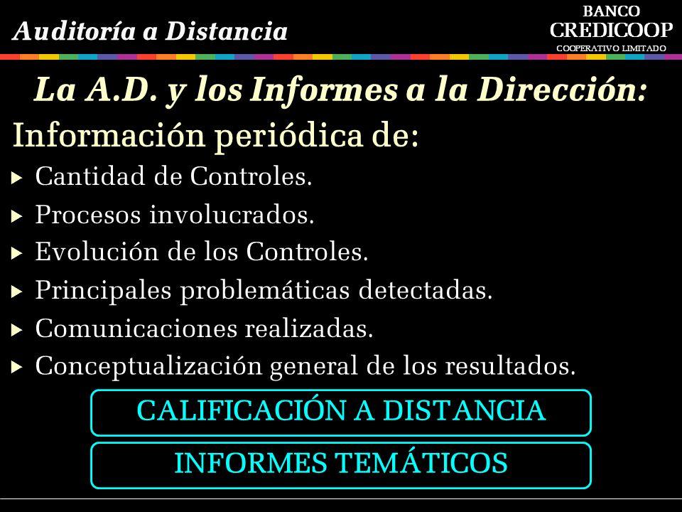 La A.D. y los Informes a la Dirección: