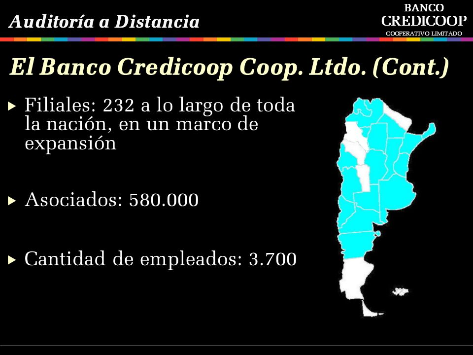 El Banco Credicoop Coop. Ltdo. (Cont.)