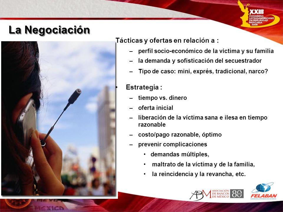 La Negociación Tácticas y ofertas en relación a : Estrategia :