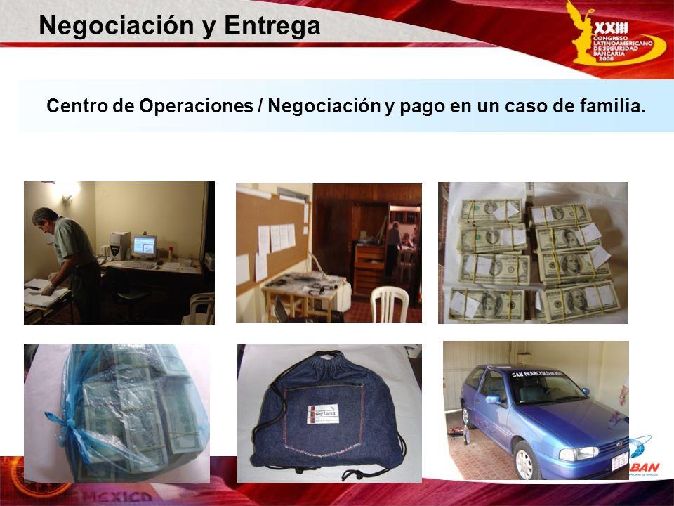 Centro de Operaciones / Negociación y pago en un caso de familia.