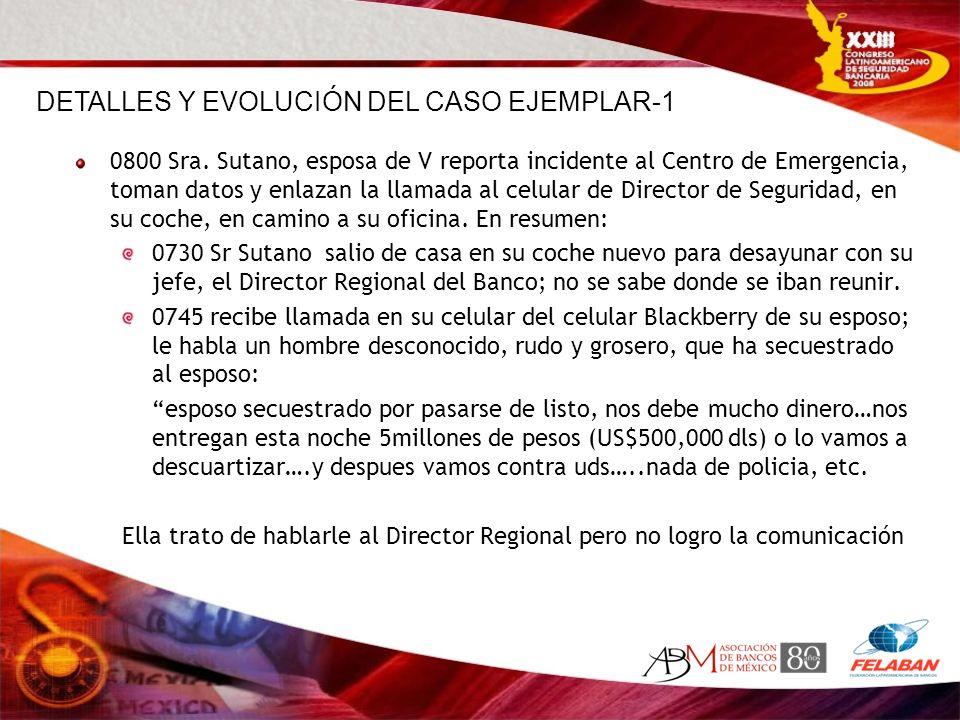 DETALLES Y EVOLUCIÓN DEL CASO EJEMPLAR-1