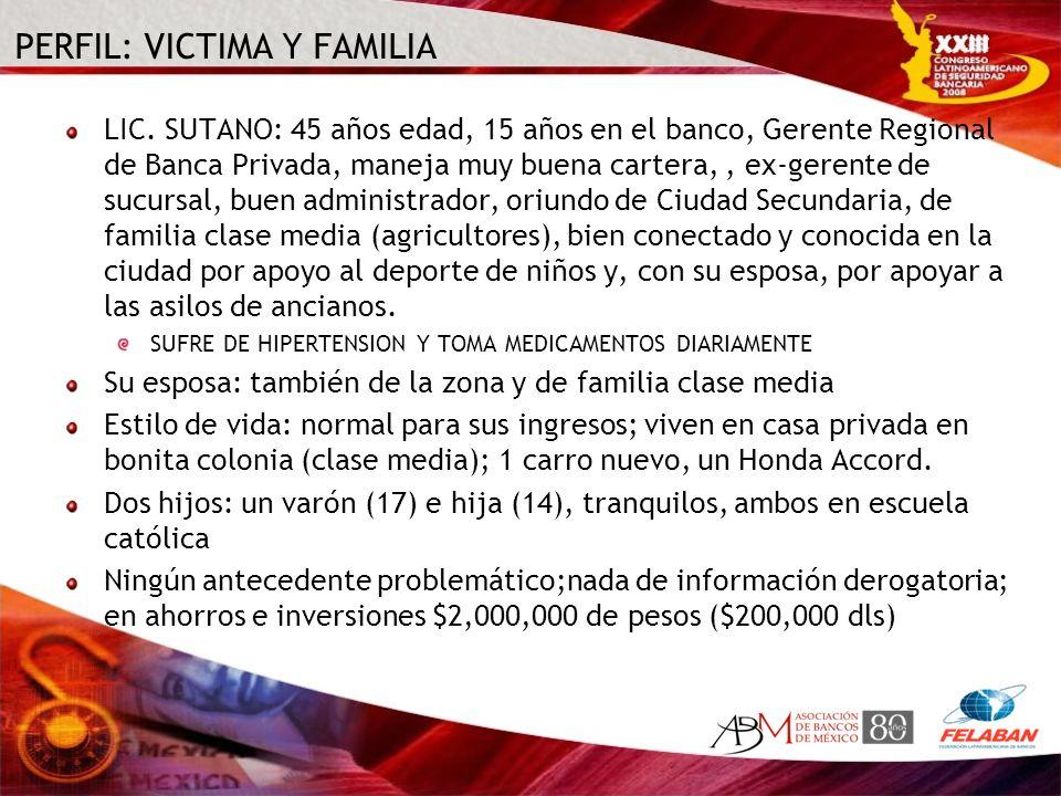 PERFIL: VICTIMA Y FAMILIA