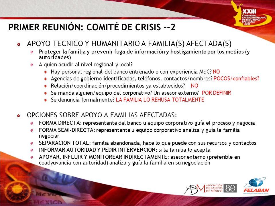PRIMER REUNIÓN: COMITÉ DE CRISIS --2