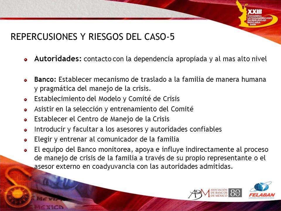 REPERCUSIONES Y RIESGOS DEL CASO-5
