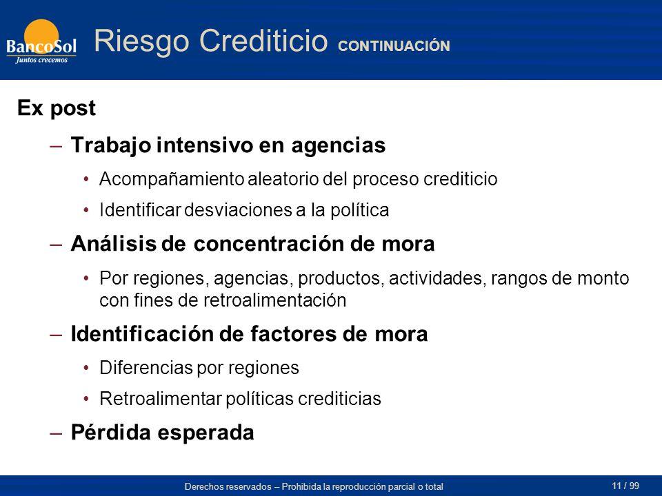 Riesgo Crediticio CONTINUACIÓN