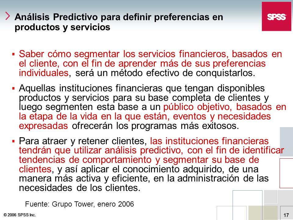 Análisis Predictivo para definir preferencias en productos y servicios