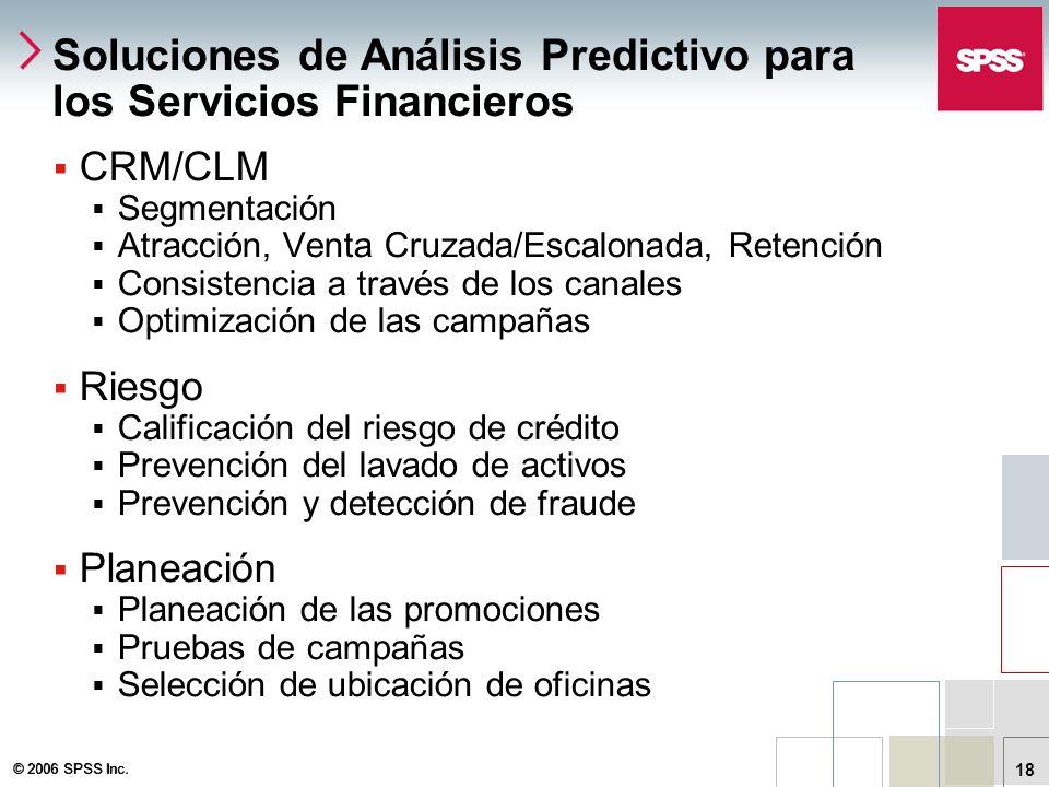 Soluciones de Análisis Predictivo para los Servicios Financieros