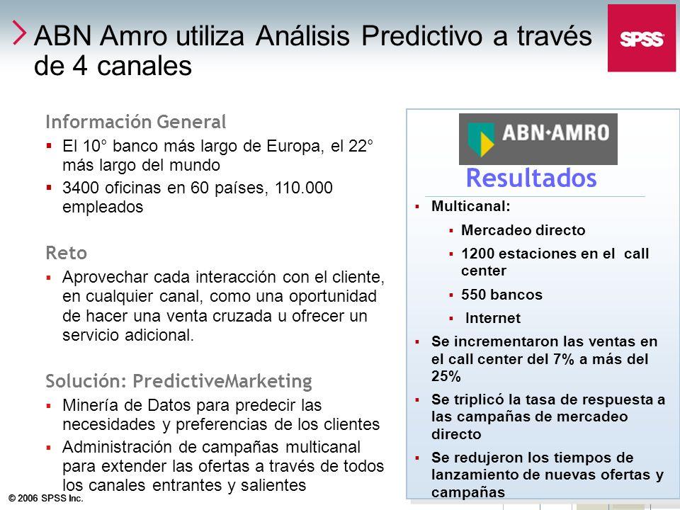 ABN Amro utiliza Análisis Predictivo a través de 4 canales