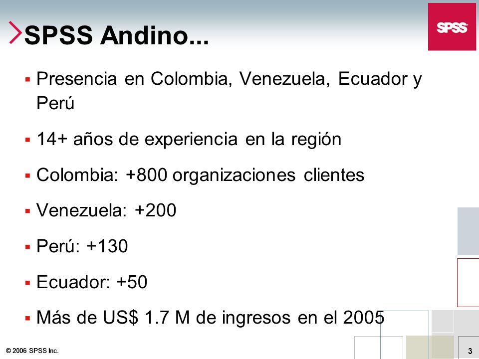 SPSS Andino... Presencia en Colombia, Venezuela, Ecuador y Perú