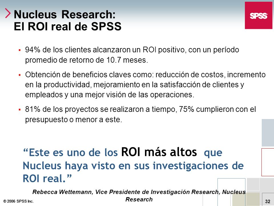Nucleus Research: El ROI real de SPSS