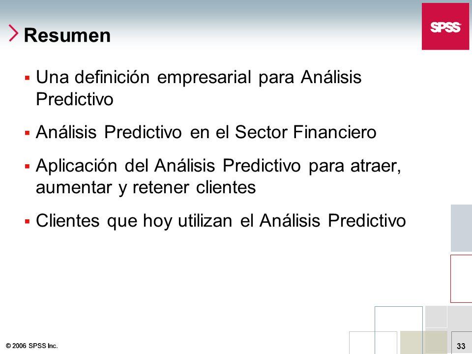 Resumen Una definición empresarial para Análisis Predictivo
