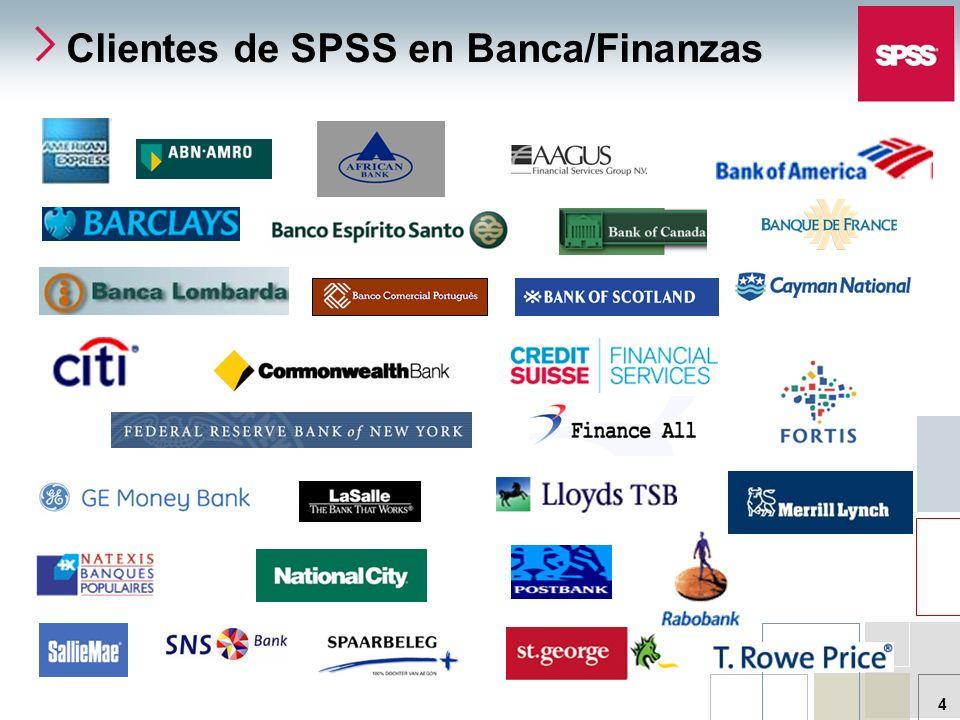 Clientes de SPSS en Banca/Finanzas