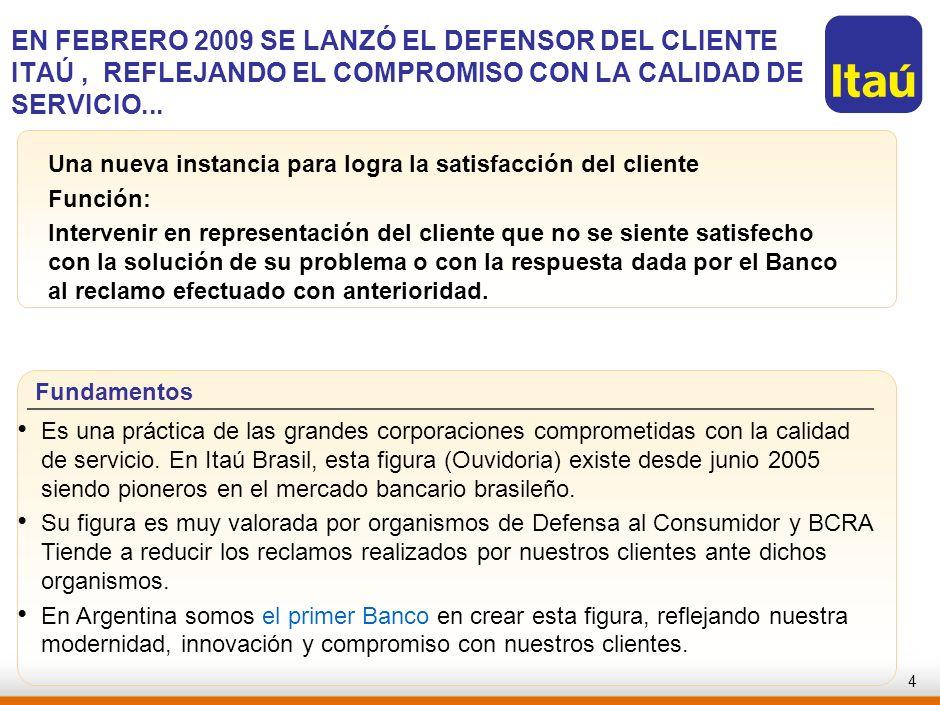 RJO-AAA123-20060821-EN FEBRERO 2009 SE LANZÓ EL DEFENSOR DEL CLIENTE ITAÚ , REFLEJANDO EL COMPROMISO CON LA CALIDAD DE SERVICIO...