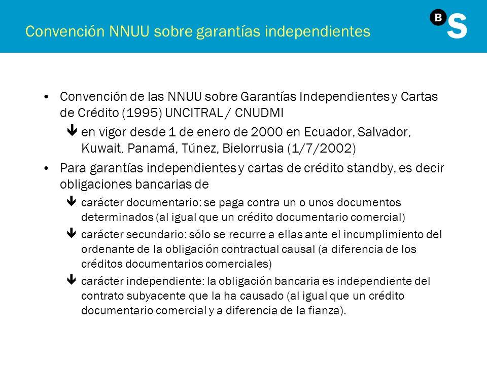 Convención NNUU sobre garantías independientes