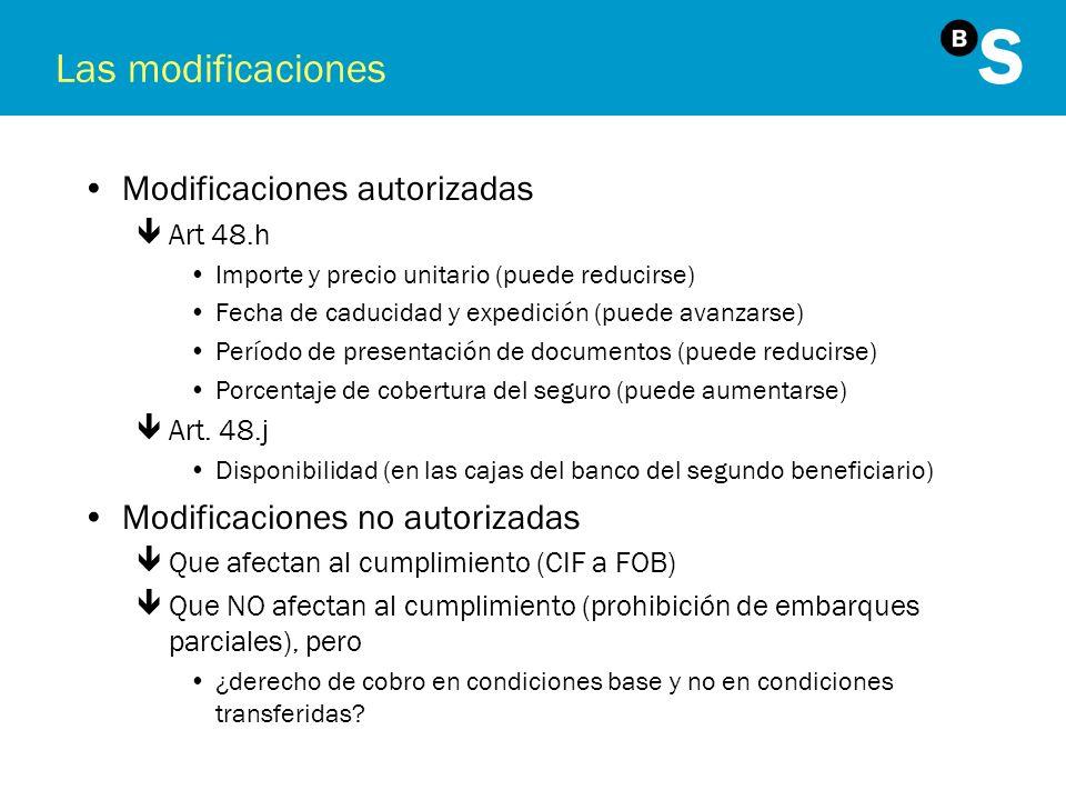 Las modificaciones Modificaciones autorizadas