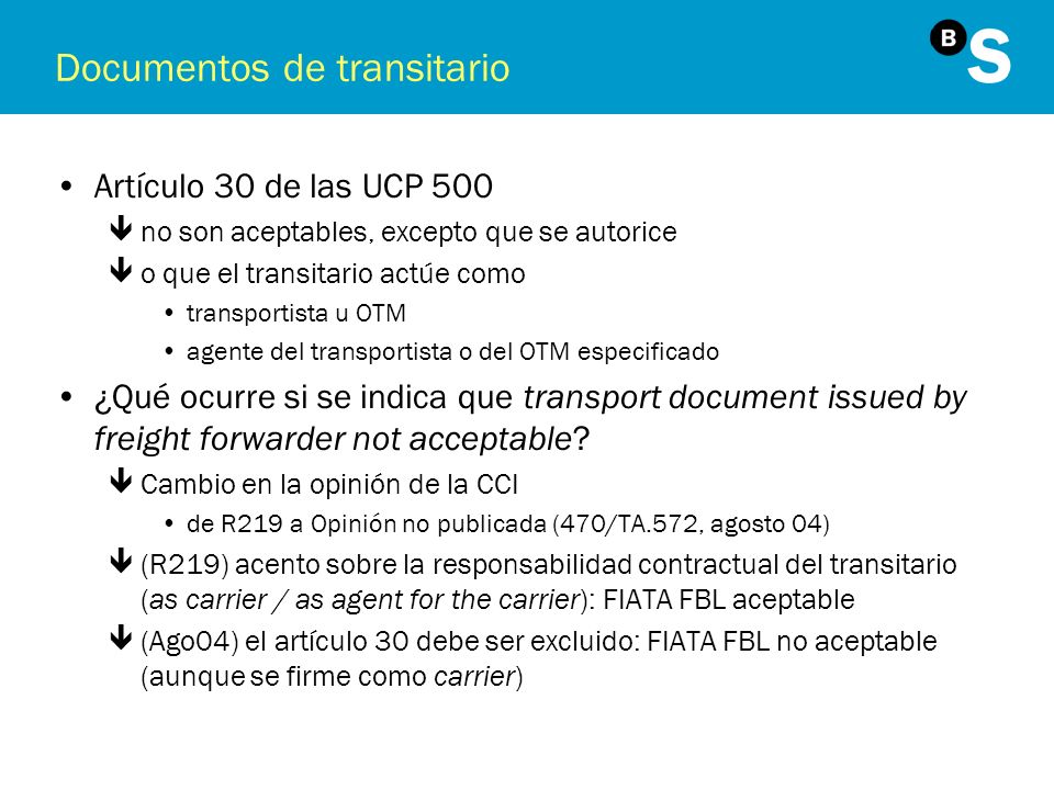 Documentos de transitario