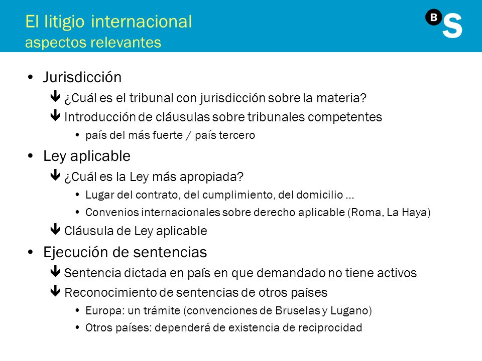El litigio internacional aspectos relevantes