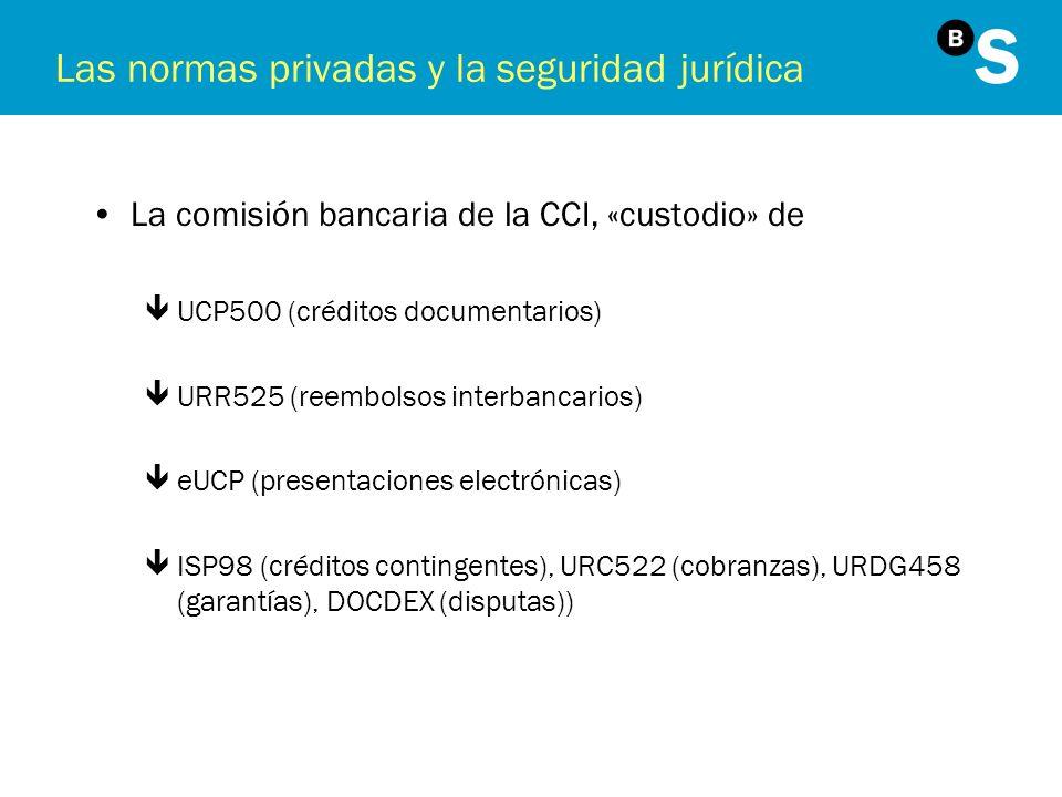 Las normas privadas y la seguridad jurídica