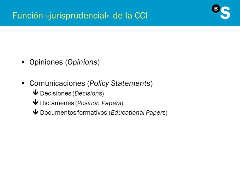 Función «jurisprudencial» de la CCI