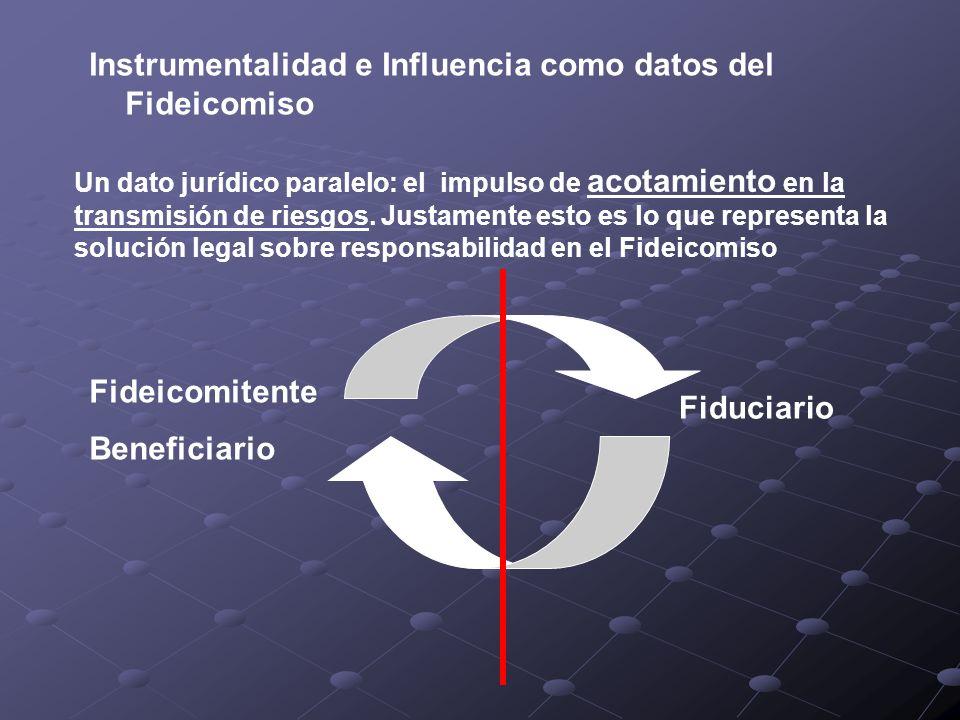 Instrumentalidad e Influencia como datos del Fideicomiso