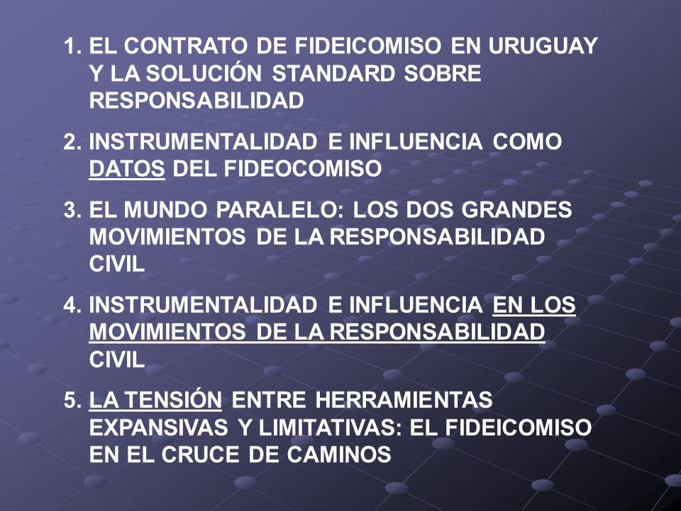 EL CONTRATO DE FIDEICOMISO EN URUGUAY Y LA SOLUCIÓN STANDARD SOBRE RESPONSABILIDAD