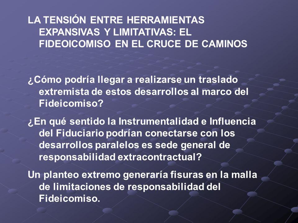 LA TENSIÓN ENTRE HERRAMIENTAS EXPANSIVAS Y LIMITATIVAS: EL FIDEOICOMISO EN EL CRUCE DE CAMINOS