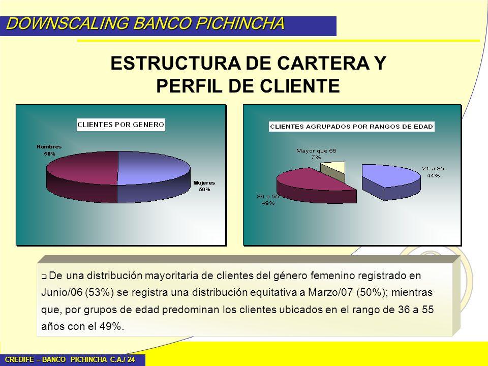 ESTRUCTURA DE CARTERA Y PERFIL DE CLIENTE