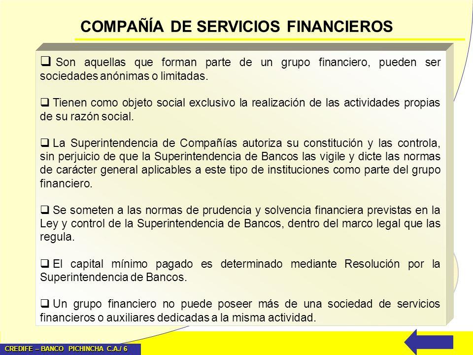 COMPAÑÍA DE SERVICIOS FINANCIEROS
