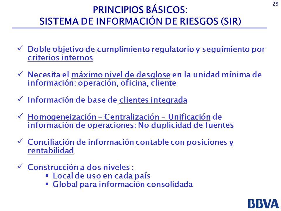 PRINCIPIOS BÁSICOS: SISTEMA DE INFORMACIÓN DE RIESGOS (SIR)