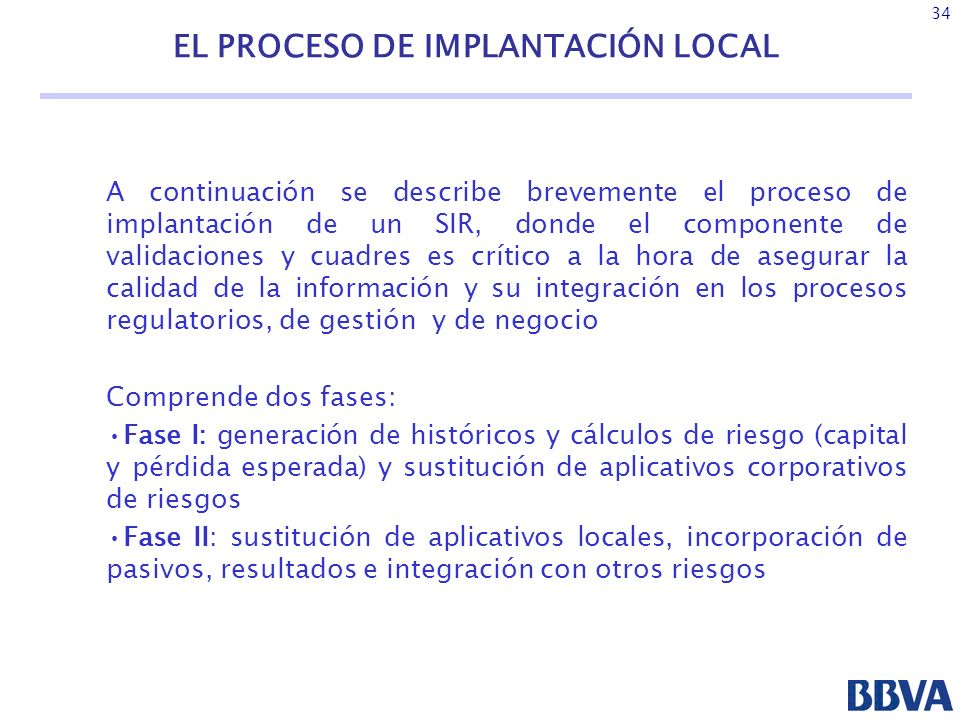 EL PROCESO DE IMPLANTACIÓN LOCAL