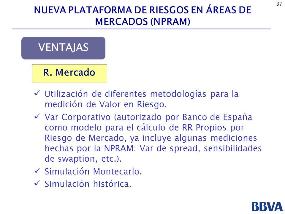 NUEVA PLATAFORMA DE RIESGOS EN ÁREAS DE MERCADOS (NPRAM)