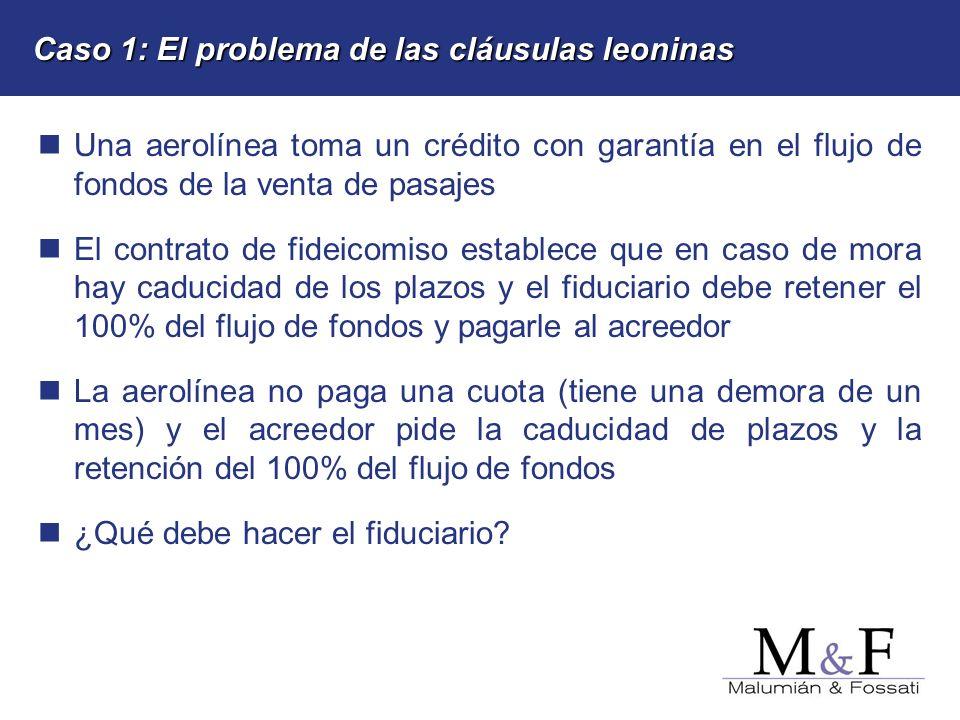 Caso 1: El problema de las cláusulas leoninas