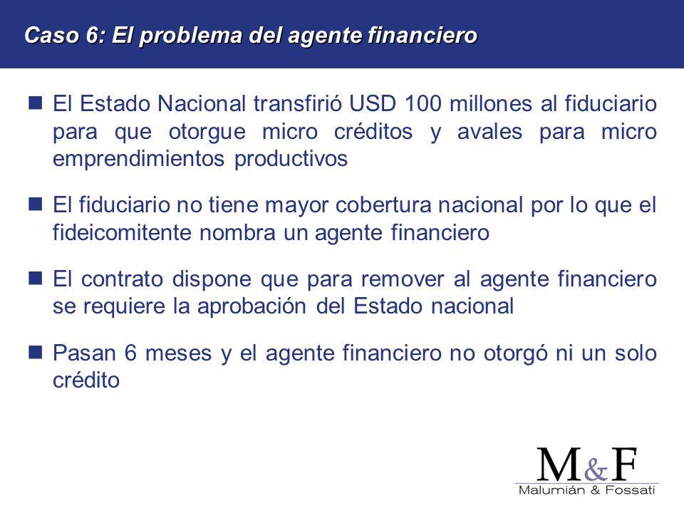Caso 6: El problema del agente financiero
