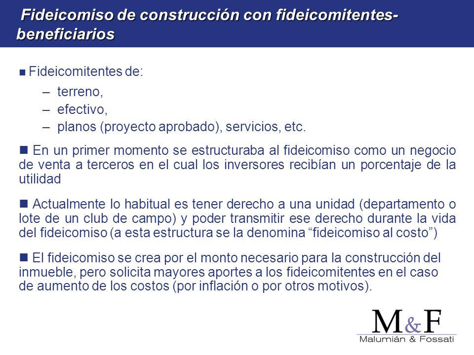 Fideicomiso de construcción con fideicomitentes-beneficiarios