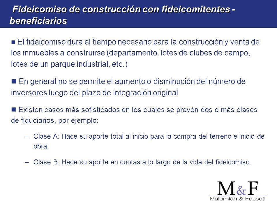 Fideicomiso de construcción con fideicomitentes -beneficiarios