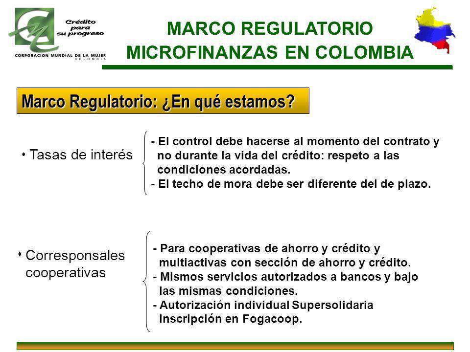 MICROFINANZAS EN COLOMBIA