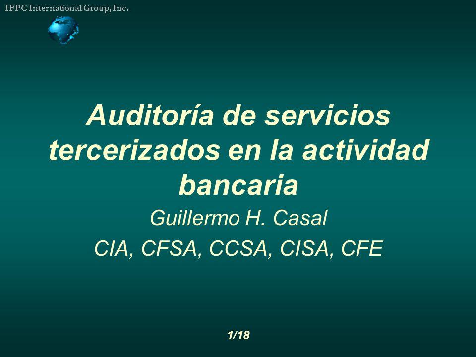 Auditoría de servicios tercerizados en la actividad bancaria