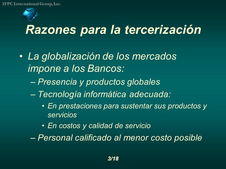 Razones para la tercerización